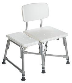 Medline Bariatric Heavy Duty Medical Transfer Bench, with Adjustable Height and 6 Heavy Duty Supporting Legs for Extra Stability -- More info could be found at the image url. (This is an affiliate link) Bathtub Bench, Bath Stool, Storage Bins, Storage Rack, Fibromyalgia Pain, Thing 1, Kitchen Fixtures, Bathroom Fixtures