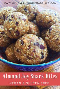 Almond Joy Snack Bites | Raw | Vegan | Gluten Free | Healthy Snacks | Clean Eating | Real Food | My Healthy Homemade Life