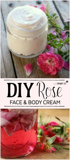 DIY Rose Face and Body Cream Recipe made with fresh roses, beeswax and rosehip seed oil.