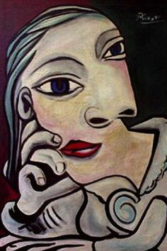 by Pablo Picasso Pablo Picasso Artwork, Kunst Picasso, Picasso Paintings, Abstract Faces, Abstract Oil, Abstract Paintings, Oil Paintings, Painting Art, Landscape Paintings