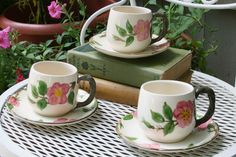 Franciscan Desert Rose  >3 Desert Rose Dishes, Coffee Cups, Tea Cups, Franciscan Ware, Rose Cottage, China Patterns, My Tea, Tea Time, Dinnerware