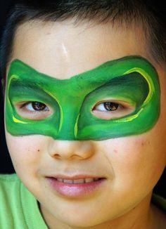 Green lantern mask face paint - photo#4