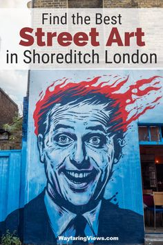 Find the best murals in London with this self-guided tour of street art in Shoreditch. This guide and map covers Brick Lane graffiti, commissioned murals and stickers and it's one of the best things to do in Shoreditch. #travel to #England