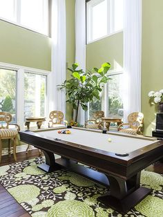 Love The Color Of Built In Book Shelves Light Fixtures And Extraordinary Pool Table Living Room Design Decorating Design