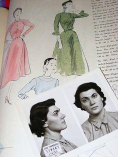 Crime + Fashion- circa 1953