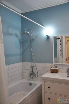 Идея с голубой затиркой под цвет стен — супер!
