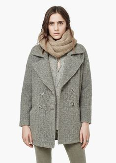 Bouclé wool coat | MANGO