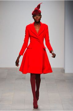Issa red coat Fall 2011