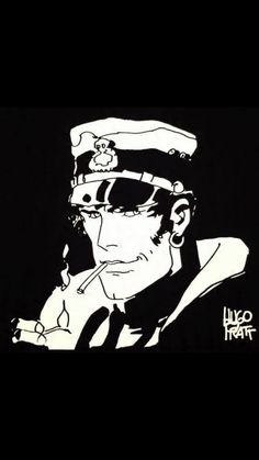 Hugo Pratt, Corto Maltese : decorative Wall panels in linen. We also propose for sale a large choice of original works of Art and reproductions by contemporary artists Maltese, Ink Illustrations, Illustration Art, Hugo Pratt, Lino Art, Jordi Bernet, Minimal Drawings, Decorative Wall Panels, Ink Master