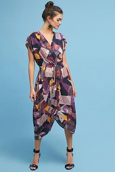 The Odells Geo Tie-Front Dress Anthropologie Hipster, Tie Front Dress, Kinds Of Clothes, Trends, Work Fashion, Formal Fashion, Street Fashion, Looks Style, Comfortable Outfits