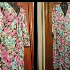 "Vintage. Long.  Step In To Flowy Floralness. NWOT House Dress /Robe  Approximately 16"" Front Zipping   100% Polyester   Never Been Worn   In Excellent Condition Anthony Richards Intimates & Sleepwear Robes"