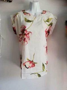 Camisa irregular con estampado floral | SHEIN USA Floral Tops, Floral Prints, High Low, Tunic Tops, Crop Tops, Women, Fashion, Shirts, Blouses