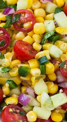 Corn, Tomato and Cucumber Salad                                                                                                                                                      More