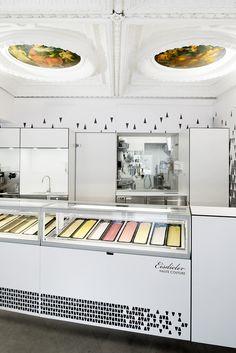 Eisdieler Ice Cream Parlor Interior Design Modern Linz Germany