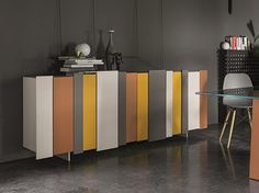 STRIPE Buffet laquée Collection Stripe by Dall'Agnese design PIO