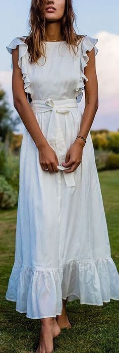 Beautiful White wrap maxi dress