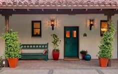 Spanish style homes – Mediterranean Home Decor Village House Design, Kerala House Design, Village Houses, Spanish Style Homes, Ranch Style Homes, Spanish House, Style At Home, Adobe Haus, Mud House