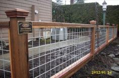 I like this fence look & good for growing things to trellis on~~cattle-pen-panels-4