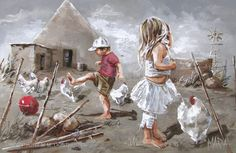 Farm Child's Life- By Maria Magdalena Oosthuizen Artwork