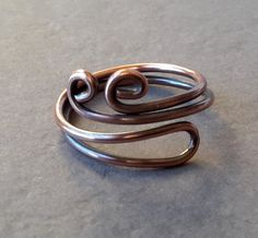 Hey, I found this really awesome Etsy listing at https://www.etsy.com/listing/177282205/pompadour-adjustable-copper-wire-ring