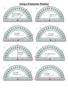 Worksheet Measuring Angles With A Protractor Worksheets angles and worksheets on pinterest