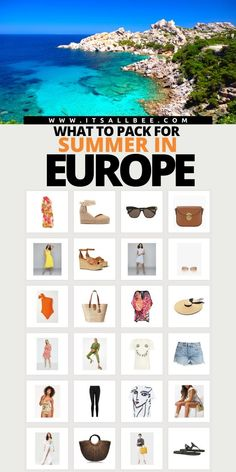 Tips on essential things to pack for Europe summer vacation. How to put together the perfect packing list for summer in Europe. #summer #packingtips | Summer Europe Packing List | European Summer Packing List | Summer Europe Packing List | Things To Pack For Europe Summer | What To Wear In Europe In Summer | Europe Travel Outfits Summer What To Wear | Outfits For Europe Summer | Europe Summer Outfits | Europe Summer Outfits Italy | Europe Summer Outfits Paris | Europe Summer Outfits Spain Summer Packing Lists, Packing List For Travel, Europe Travel Guide, Travel Destinations, Travel Guides, Packing Tips, Travel Abroad, Backpacking Europe, Packing For Europe