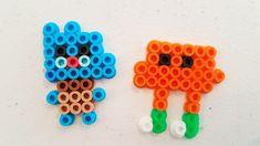 Gumball and Darwin perler beads Melt Beads Patterns, Pony Bead Patterns, Pearler Bead Patterns, Perler Patterns, Beading Patterns, Perler Bead Templates, Diy Perler Beads, Perler Bead Art, Pearler Beads