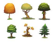 ArtStation - 2d concept trees, Mega Power
