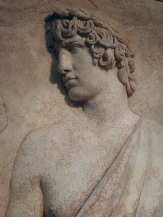 'Antinous as Silvanus (god of woods and fields), harvesting grapes, marble… Ancient Greek Sculpture, Ancient Greek Art, Ancient Rome, Roman Sculpture, Roman History, Ancient Beauty, Male Figure, Roman Empire, Woods