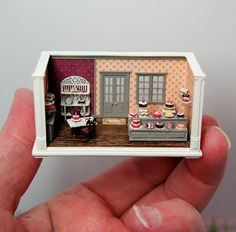 1/144th scale cake shop by Nell Corkin