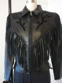 Leather Fringe Jacket FreeShipping