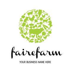 Custom logo design for a farm shop organic produce by brandyourbiz, $100.00