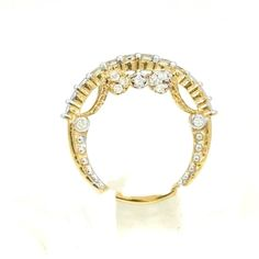 Certified 100% Natural I-J, VS-SI Round V.G. 21Pc/0.53 Ct Diamond Ring18 K Gold  #DiscoverDiamond #Ring