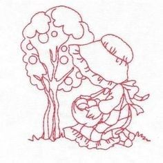 Grand Sewing Embroidery Designs At Home Ideas. Beauteous Finished Sewing Embroidery Designs At Home Ideas. Custom Embroidery, Ribbon Embroidery, Embroidery Applique, Cross Stitch Embroidery, Machine Embroidery Designs, Sunbonnet Sue, Applique Patterns, Quilt Patterns, Doll Quilt