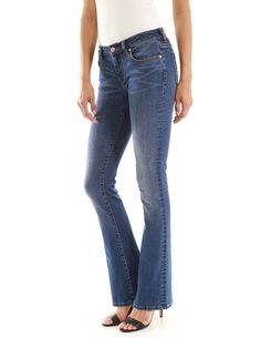 PHOENISING Womens Slim Fit Jeans Adjustable Waist Bottoms Knee Slash Pants