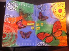 It was a terrible wet and rainy day outside so I decided to bring some sunshine inside. I call it 'Another day in the sun' Medium Blog, Art Journal Pages, Mixed Media Art, Sunshine, My Arts, Day, Painting, Painting Art, Mixed Media