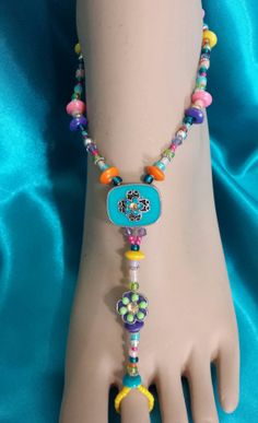 Multi Colored  Barefoot Sandals / Beach Jewelry / by IslandToes