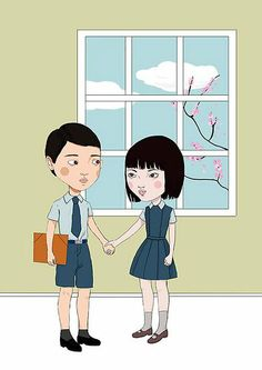 Tengo and Aomame - Haruki Murakami I Love Books, Great Books, Haruki Murakami Books, 1q84, Art Of Noise, Literature Books, Art For Art Sake, Anime Couples, Illustration