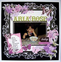 Aria Rose - Kaisercraft - Scrapbook.com Scrapbook Layouts, Scrapbooking, Page Layout, Xmas, Rose, Children, Photos, Inspiration, Collection