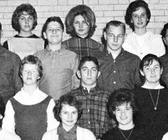 Debbie in the back row, 8th or 9th grade.