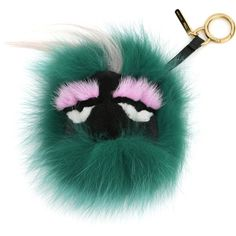 Fendi Monster Fur Charm for Handbag (18 085 UAH) ❤ liked on Polyvore featuring accessories, fendi, keychain, acc, bags, green multi, fur key chain, ring key chain and key chain rings