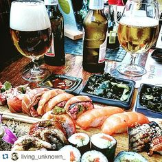 Taaaaaka uczta!  #Repost @living_unknown_ ・・・ Without a doubt the best sushi I have ever eaten in any country  You don't believe me? Come here and try some! #poland #sushi #77sushi #beer #goodvibes #friends #fun #vibe #live #life #head #viewtiful #wanderlust #drink #eat #sleep #lift #alpha #travel #discover #explore #wander #gopro #goprogoals #goprooftheday #hero #motivation #food #urban