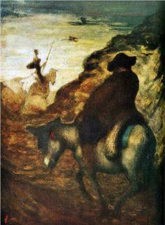 Don Quixote and Sancho Pansa - Honore Daumier