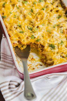 Easy Southwestern Recipe: Cornbread Chicken Enchilada Casserole