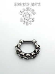 """Ancient Ruins"" septum clicker by Flaming Bones.  Want in brass.... I'm not sure if it's for me but it looks gorgeous"