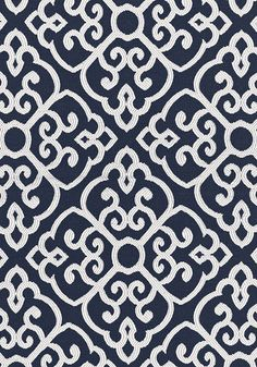 Shoji #fabric in #navy from the Woven Resource 6 collection. #Thibaut