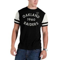 '47 Brand Oakland Raiders Women's Dipped T-Shirt - Charcoal