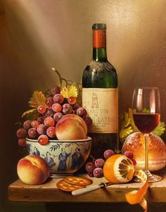 Wine And Fresh Fruit Diy Paint By Numbers Kits is the perfect first step for beginners to enjoy the art of painting using our People paint by number collection.Paint your own wall art, even if you… Wine Painting, Fruit Painting, Still Life Artists, Still Life Oil Painting, Paint By Number Kits, Modern Pictures, Wine Art, Fruit Art, Diy Frame