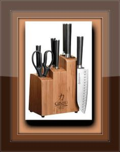 8 Piece Knife Set Ginsu Chikara Stainless Steel Cutlery Kitchen Steak Knives Bar for sale online