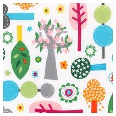 Tissu Flanelle Daydream Girl Forest Park x 10cm
